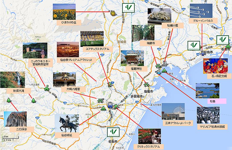 バリュー・ザ・ホテル|周辺観光マップ